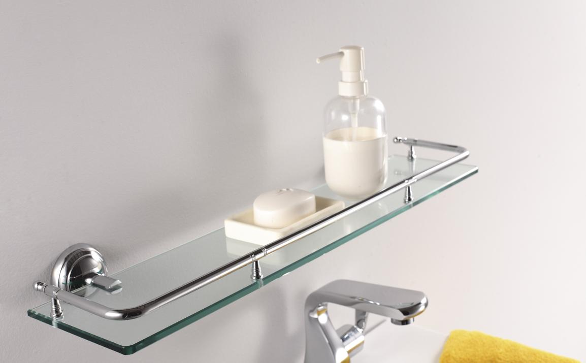 in - Bathroom Glass Shelves