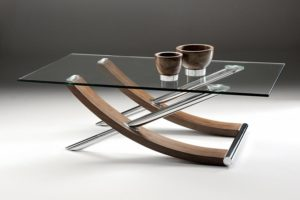 Glass Tables Glass Homes - Rectangular glass side table