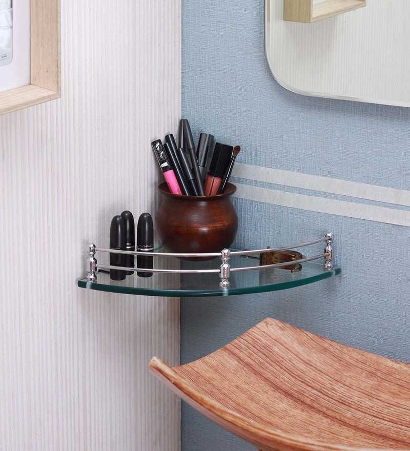 What is the benefit of bronze glass triangle shelf | Glass 4 Homes